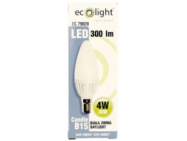 Candle B15 SBC 4W 300 Lumens Daylight Frosted LED Bulb