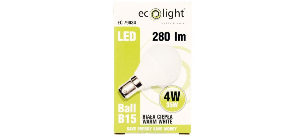 Golf 4W B15 / SBC 280 Lumens Warm White Frosted LED Bulb