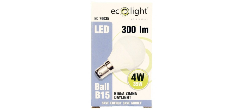 Golf 4W B15 SBC 300 Lumens Daylight Frosted LED Bulb