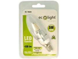 Candle 5W E14 / SES 420 Lumens Warm White LED Bulb