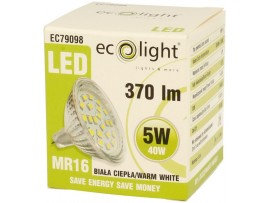 MR16 5W 370 Lumens Warm White LED Bulb