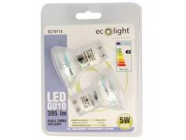 GU10 5W / 40W Daylight 395 Lumens LED Bulbs - Twin Pack
