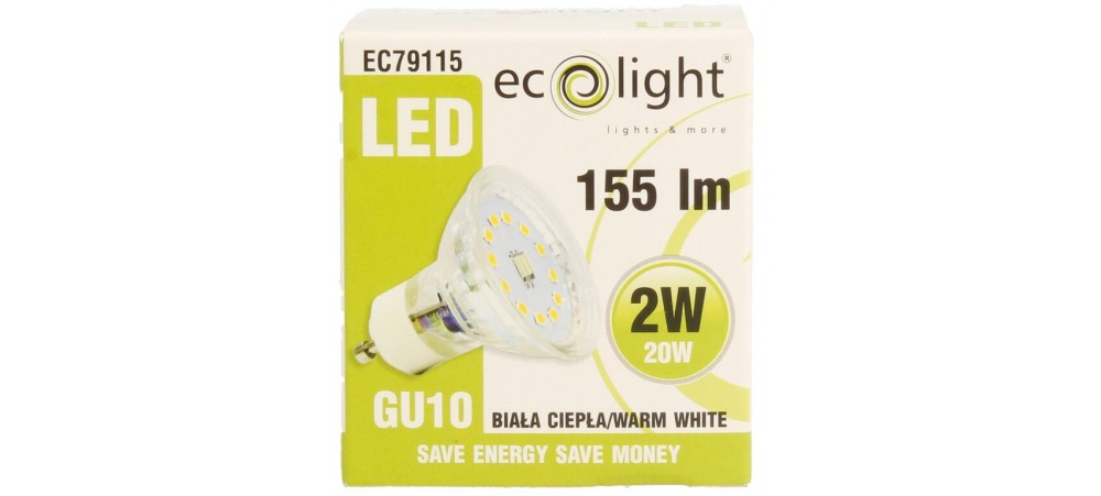 GU10 2W 155 Lumens Warm White LED Bulb