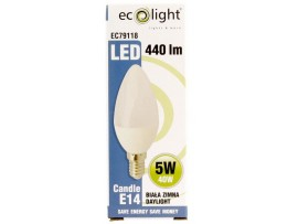 Candle E14 5W 440 Lumens Daylight Frosted Bulb