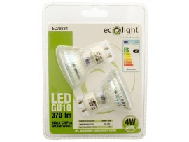 GU10 4W / 40W 370 Lumens Warm White LED Twin Pack