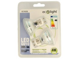 GU10 4W 395 Lumens Daylight LED Twin Pack