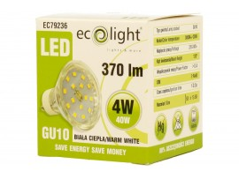 GU10 4W / 40W Warm White LED 370 Lumens Bulb