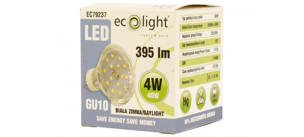 GU10 4W / 40W Daylight LED 395 Lumens Bulb