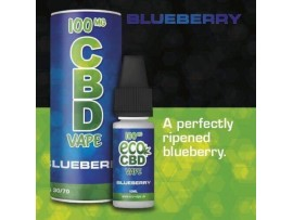 CBD E-Liquid Blueberry Flavour - Full Spectrum - 10ML - 100MG / 200MG / 300MG
