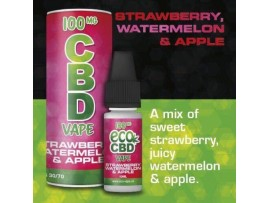 CBD E-Liquid Strawberry, Watermelon & Apple Flavour - Full Spectrum - 10ML - 100MG / 200MG / 300MG