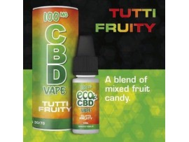 CBD E-Liquid Tutti Fruity Flavour - Full Spectrum - 10ML - 100MG / 200MG / 300MG