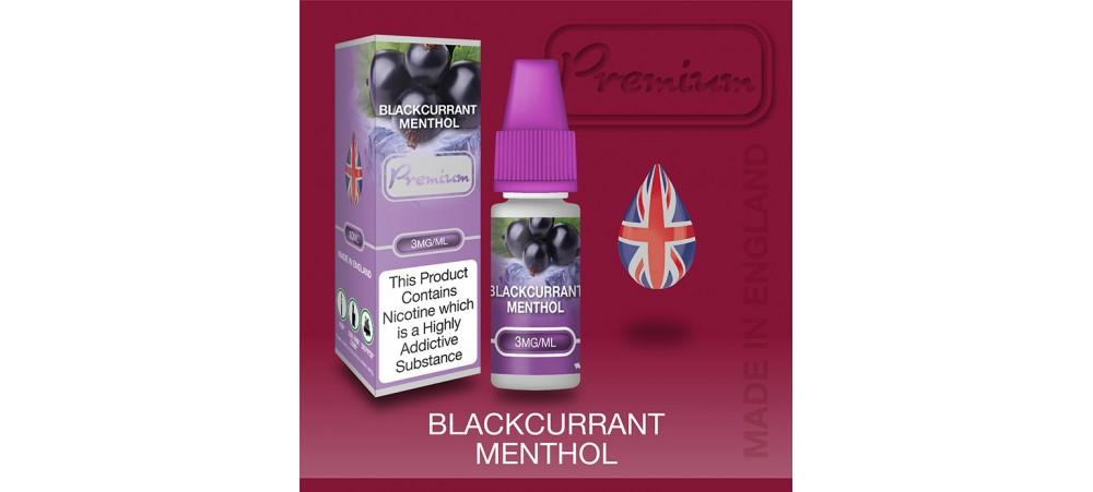 Blackcurrant Menthol Flavour E-Liquid 10ml - Eco Vape Premium - 50VG/50PG - 18MG