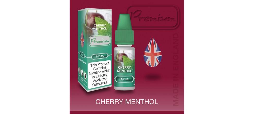 Cherry Menthol Flavour E-Liquid 10ml - Eco Vape Premium - 50VG/50PG