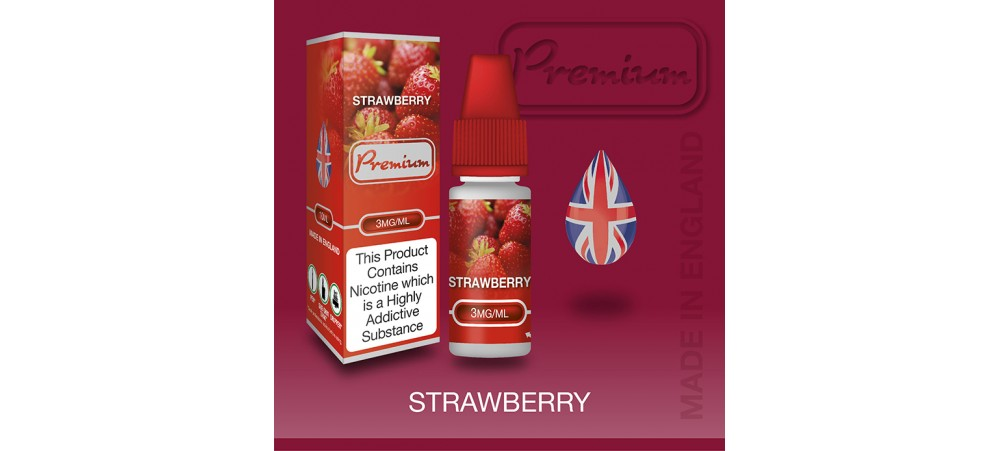 Strawberry Flavour E-Liquid 10ml - Eco Vape Premium