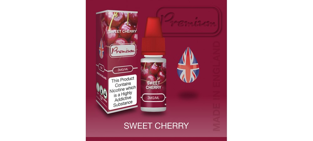 Sweet Cherry Flavour E-Liquid 10ml - Eco Vape Premium - 50VG/50PG - 6MG