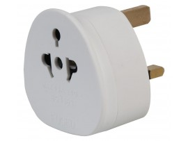 Travel Adapter Plug: Worldwide/European 2 Pin to UK 3 Pin