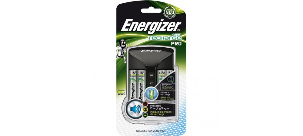 Energizer Pro Battery Charger With four AA 2000mAh Batteries