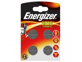 Energizer CR2016 3V Lithium Coin Batteries - 4 Pack