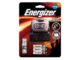Energizer 2 LED Headlight (Batteries Included) - Colour may vary (Black/Red)