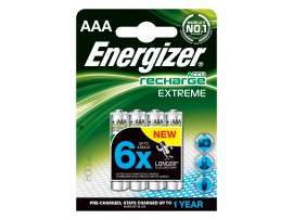 Energizer AAA 800mAh Pre-Charged Rechargeable Batteries 4 Pack