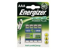 Energizer AAA 700mAh Power Plus Rechargeable Batteries 4 Pack