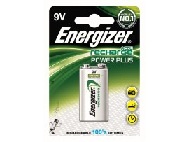 Energizer 9V 175mAh Power Plus Rechargeable Battery 1 Pack