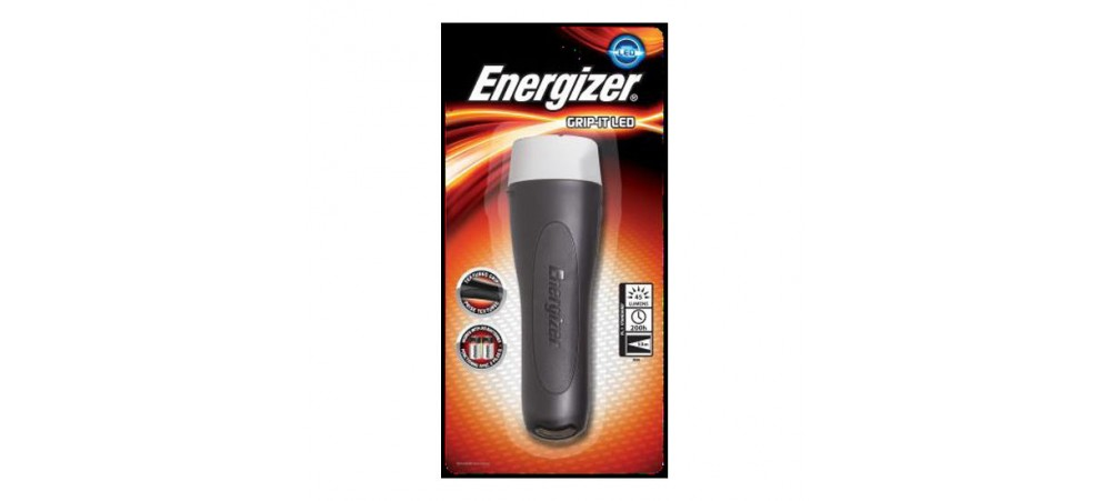 Energizer LED Grip-it Rubber Handheld 2D Torch - Batteries not included