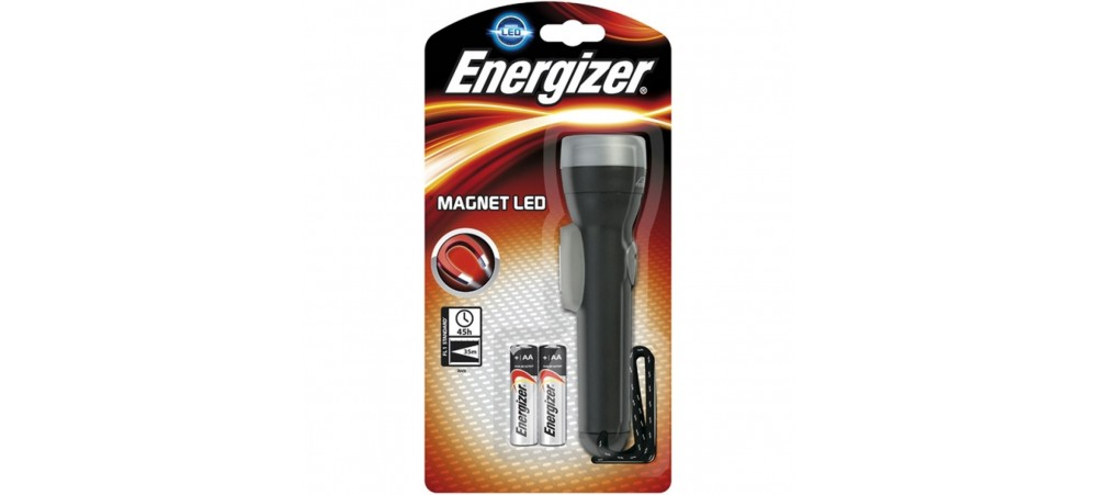 Energizer Magnet LED Torch with 2 AA Batteries