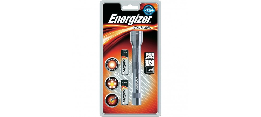 Energizer Value Metal 5 Nichia Led Torch with 2 AA Battteries