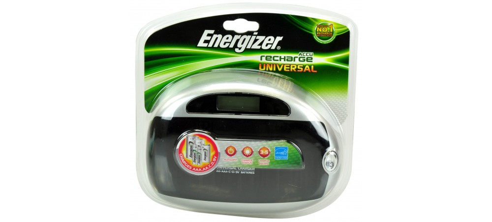 Energizer Universal Multi-Battery Charger Charges AA AAA C D 9V
