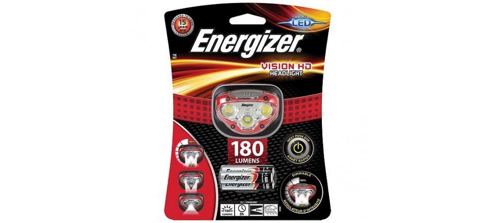 Energizer Vision HD Headlight 180 Lumens