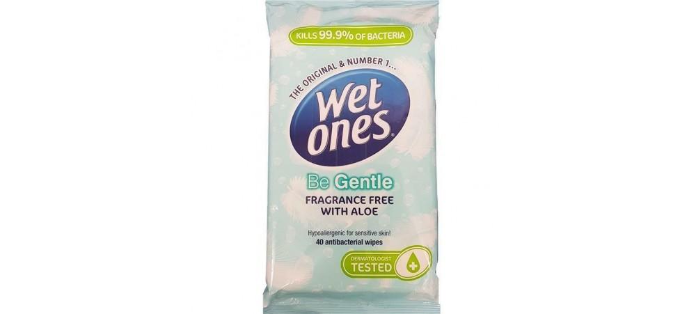 Wet Ones Be Gentle Original Antibacterial Wipes - Pack of 40 Wipes