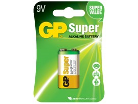 GP 9V / 6LR61 / 1604 Super Alkaline Battery