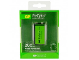 GP 9V 200mAh ReCyko+ NiMH Rechargeable Battery