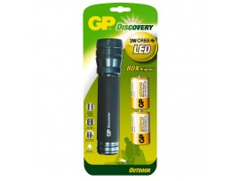 GP Discovery Outdoor LED Torch LOE404 with 2 Ultra Alkaline D