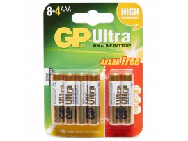 GP AAA Ultra Alkaline Batteries 12 Pack