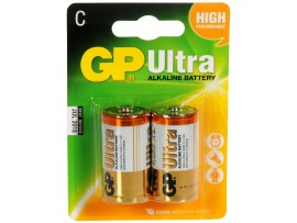 GP C Size Ultra Alkaline Batteries - Pack of 2