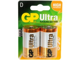 GP D Size Ultra Alkaline Batteries - Pack of 2