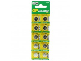 GP LR44 Alkaline Coin Batteries - Pack of 10