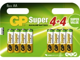 GP AA Super Alkaline Batteries - Pack of 8