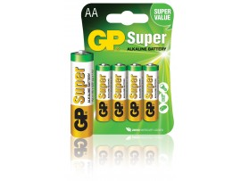 GP AA Super Alkaline Batteries - Pack of 4