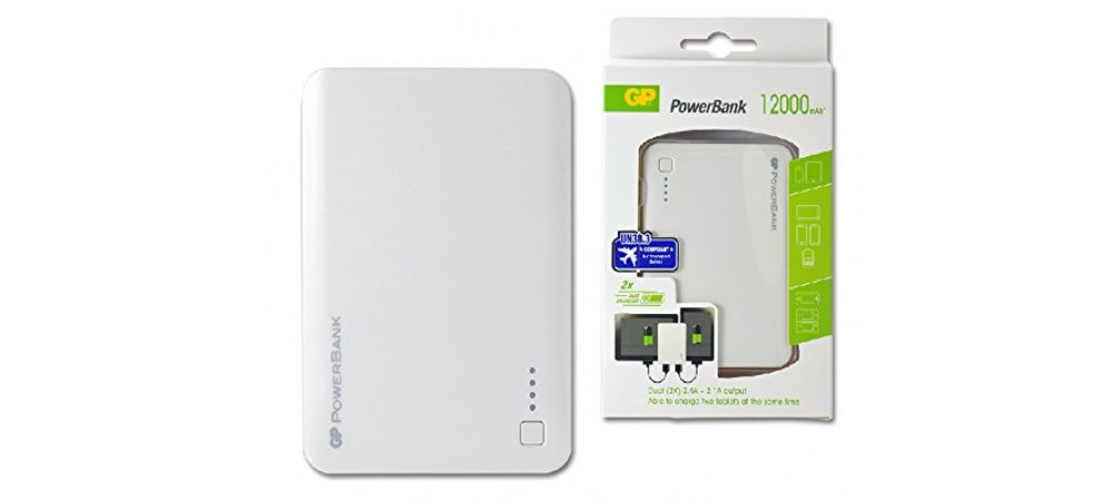 GP Portable Powerbank 302C 12000mAh Dual Charging