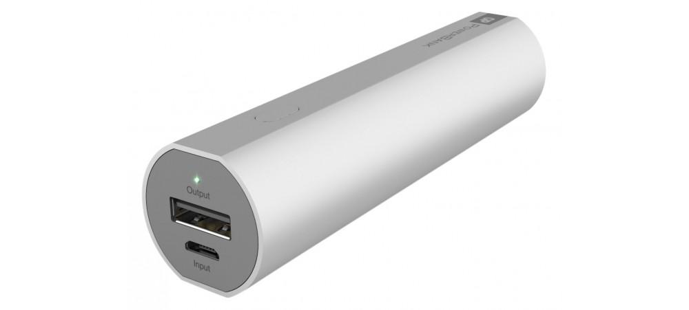 GP Batteries 3000mAh Portable Powerbank for Smartphones - Silver