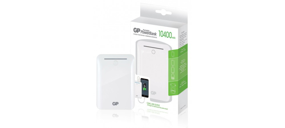 GP 10400mAh Dual Charging Portable PowerBank