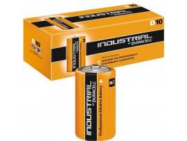 Duracell Industrial D Size Alklaine Batteries - 10 Pack