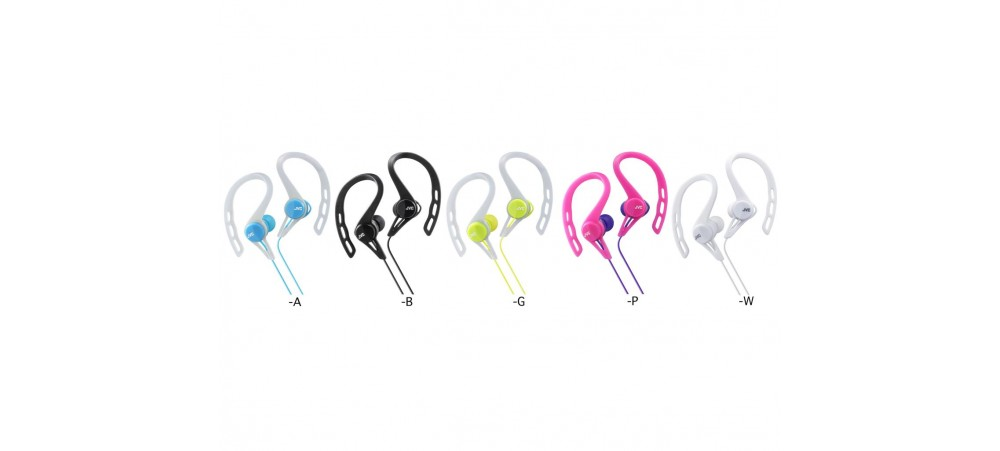 JVC HA-ECX20 Sports Splash-Proof In-Ear Headphone with Clip