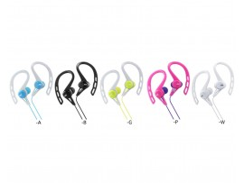 JVC HA-ECX20 Sports Splash-Proof In-Ear Headphone with Clip - Black / Green / Pink / White