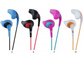 JVC HA-EN10 Gumy Sport Sweat Resistant In-Ear Sport Headphones - Black / Blue