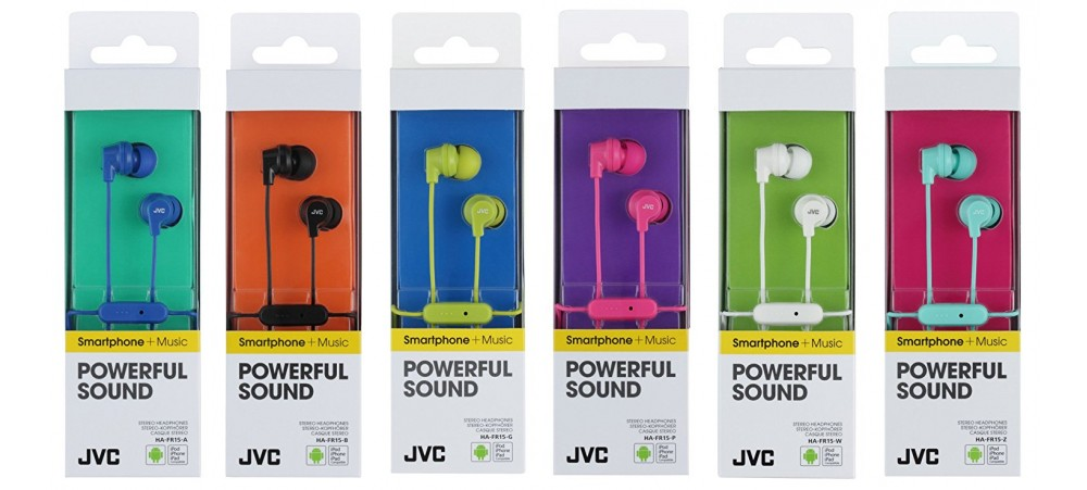JVC HA-FR15 Superior Sound Isolation In-Ear Earphones With Mic and Remote