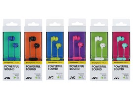 JVC HA-FR15 Superior Sound Isolation In-Ear Earphones With Mic and Remote - Mint / Black / Green / White